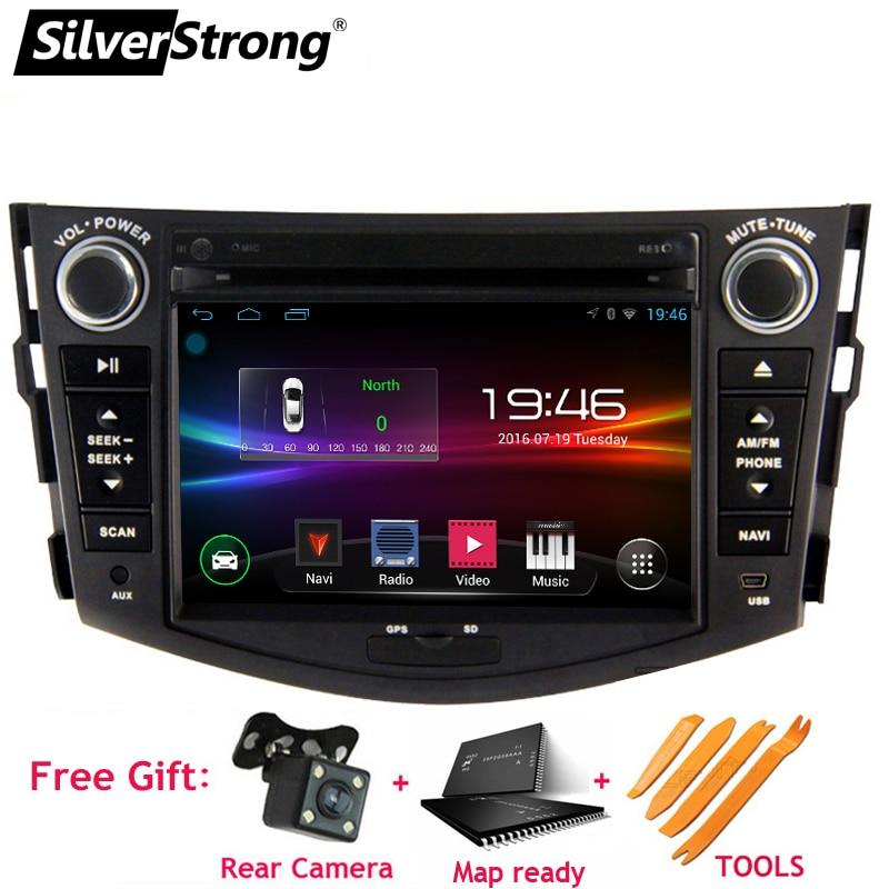 SilverStrong 2din Voiture AndroidCar Lecteur DVD pour Toyota Rav4 RAV 4 Audio Vidéo Auto Stéréo GPS Navigation Radio DAB +