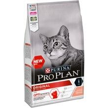 Сухой корм Purina Pro Plan для взрослых кошек от 1 года, с лососем, Пакет, 1.5 кг