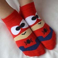 Cartoon Superhero Unisex Ankle Cotton Socks (5 Pairs)