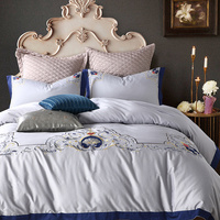Luxury Duvet Cover Bed Sheet Pillow Cases Queen King Size 100% Cotton Quilt Cover Bed Cover Flat Sheet Pillowcases 3pcs New