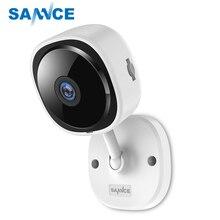 SANNCE كاميرا عين السمكة 180 درجة IP عالية الدقة 1080P كاميرا لاسلكية لأمن المنزل كاميرا رؤية ليلية بالأشعة تحت الحمراء شبكة صغيرة تعمل بالواي فاي كاميرا مراقبة الطفل