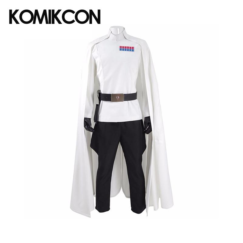 Rogue Director Orson Krennic Cosplay Costume Men's Cloak Suit Full Set Halloween Officer Uniform with Badge Gloves