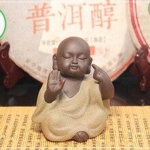 Чайная фигурка для набора Кунг Фу Ча Медитирующий монах слушает внутренний голос