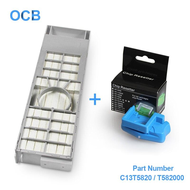 US $38 16 11% OFF|C13T5820 T582000 T5820 Maintenance Ink Tank For Epson  SureColor P800 SC P800 SureLab D700 Stylus Pro 3800 3880 Maintenance Box-in