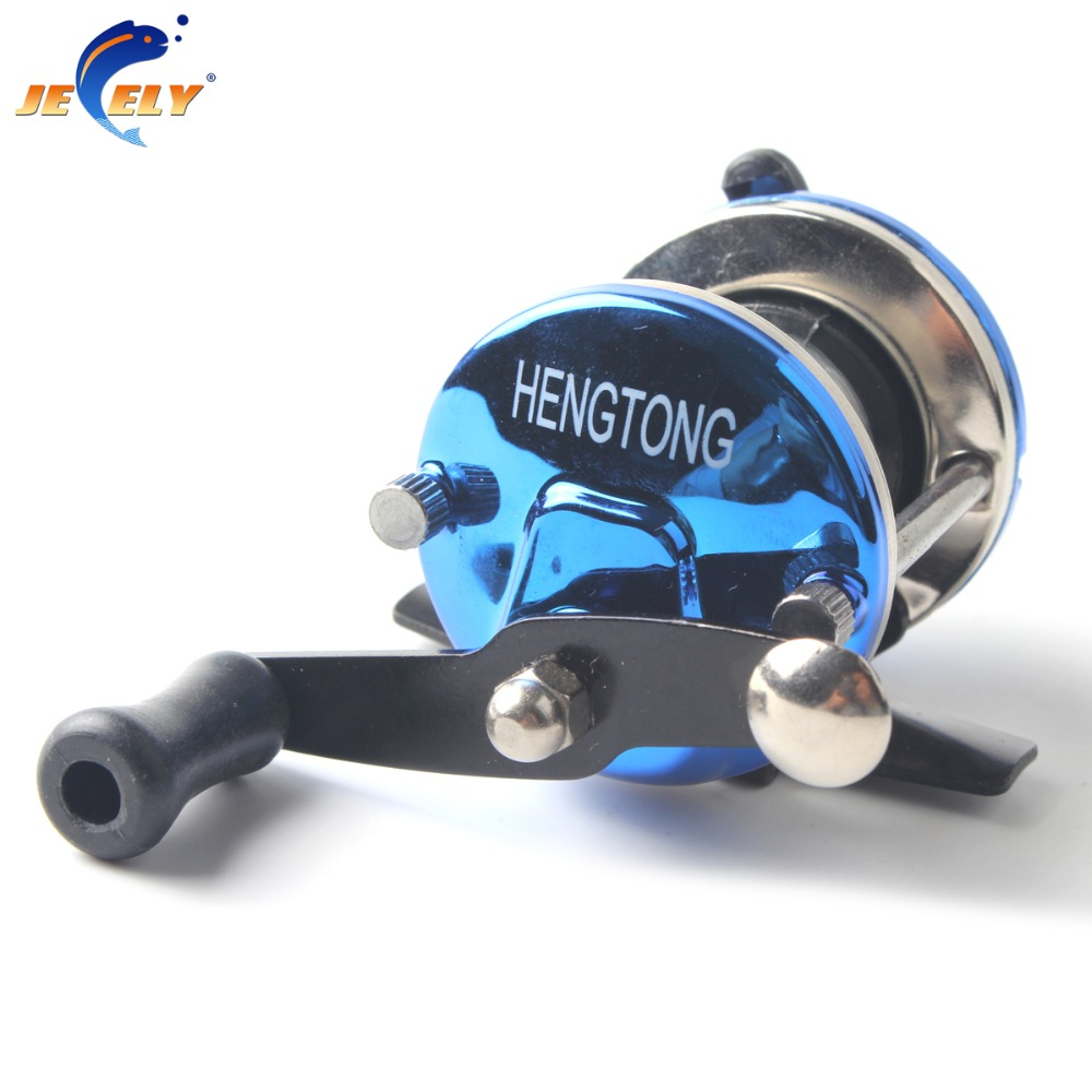 Smallest bait casting mini ice fishing reel with line 50m for In line ice fishing reel