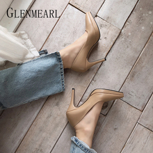Women Shoes High Heels Brand Spring Woman Pumps Party Working Shoes Pointed Toe Plus Size Office Ladies Dress Shoes Female Pumps все цены