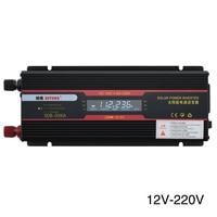 6000W Car Inverter Aluminum Alloy Voltage Transformer USB LCD Display Black Modified Sine Wave Indicator Lamp Universal Socket