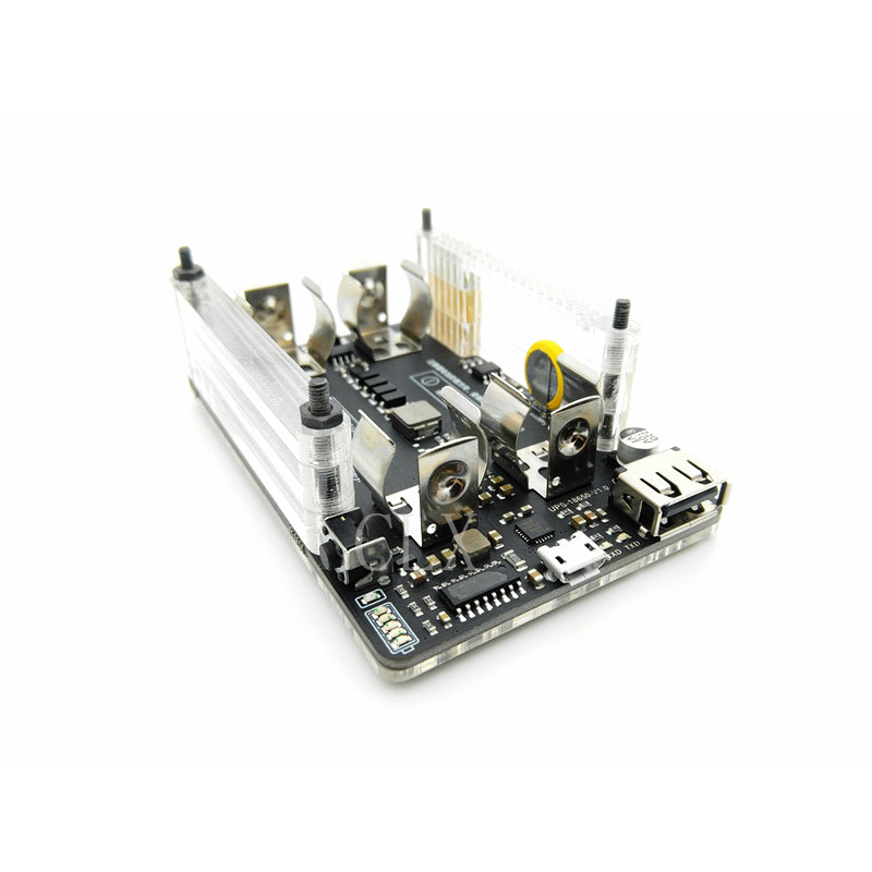 New UPS 18650 Power Extension Board With RTC, Measurement, 5V Output Serial Port Fan HAT For Raspberry Pi