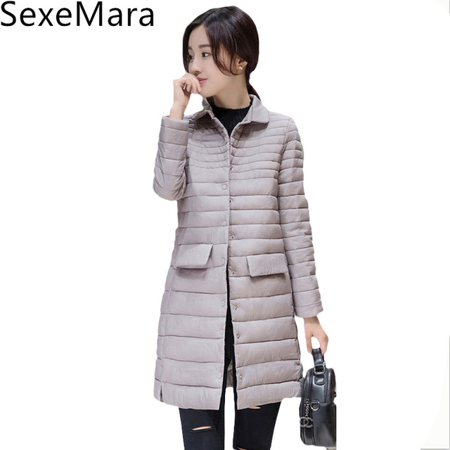c93519c09 US $68.0  2017 Thin Women Quilted Parkas Long Women Cotton Padded Jacket  Spring Windproof New Womens Autumn Jackets Coats C481-in Parkas from  Women's ...