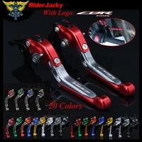 RiderJacky LOGO CBR 150R Motorcycle CNC Brake Clutch Levers For Honda CBR150R 2004 2012 2011 Adjustable Extendable Foldable