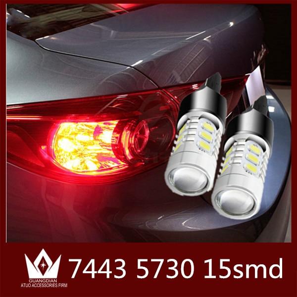 Guang Dian 1bulb Car LED tail light reverse bulb stop lamp backup light marker lamp rear light 7443 T20 W21/5W 7.5W 5730 car led guang dian car interior lamp roof bulb