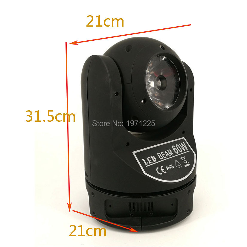 8pcs 60W Beam LED Moving Head Stage Light RGBW 4in1 DMX512 Led Beam Moving Head High Brightess Beam Light for Theatre Projection
