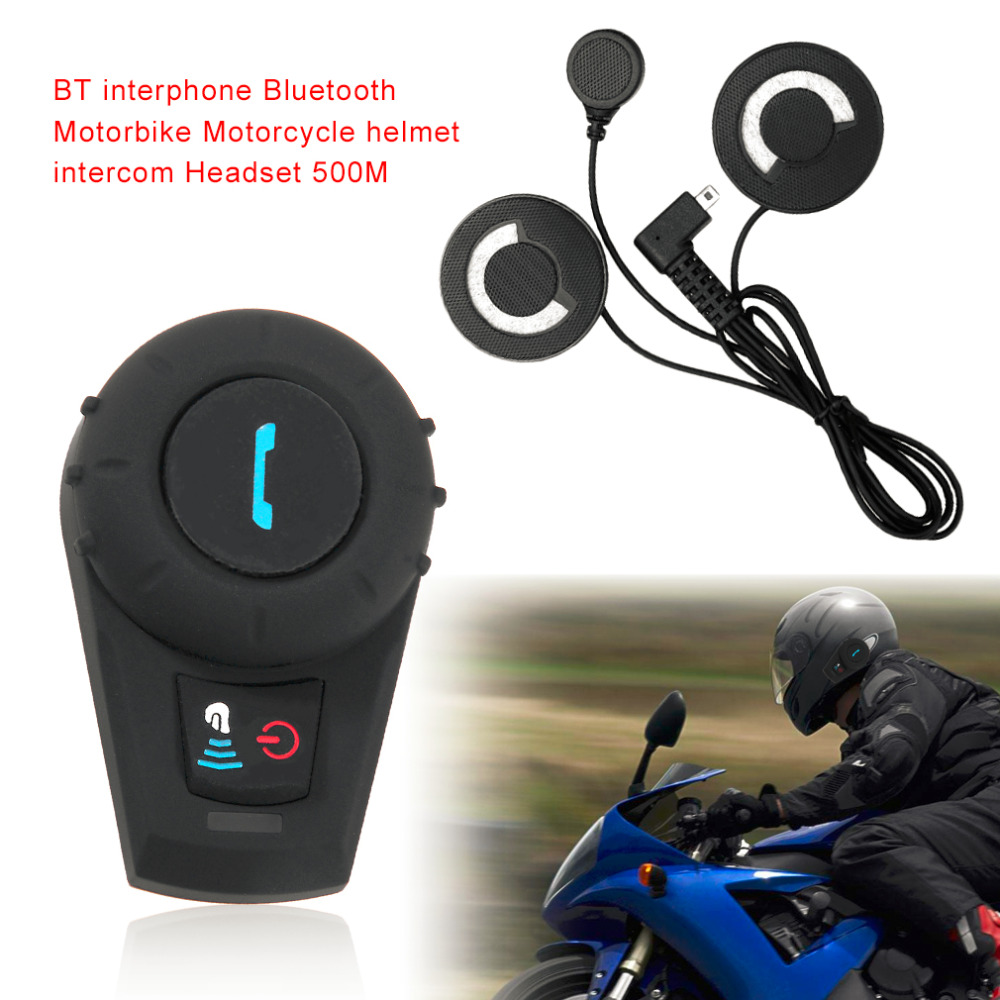 M1035BT Bluetooth Intercom Motorcycle Motorbike Helmet Speaker Intercom System Motorcycle Helmet Intercom Handfree 500M активная акустическая система behringer europort eps500mp3