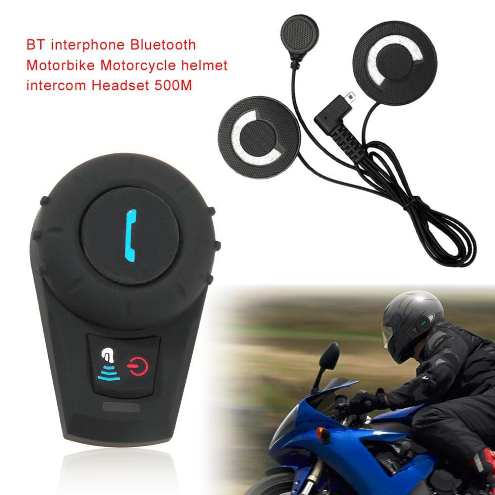 M1035BT Bluetooth Intercom Motorcycle Motorbike Helmet Speaker Intercom System Motorcycle Helmet Intercom Handfree 500M black box 74082