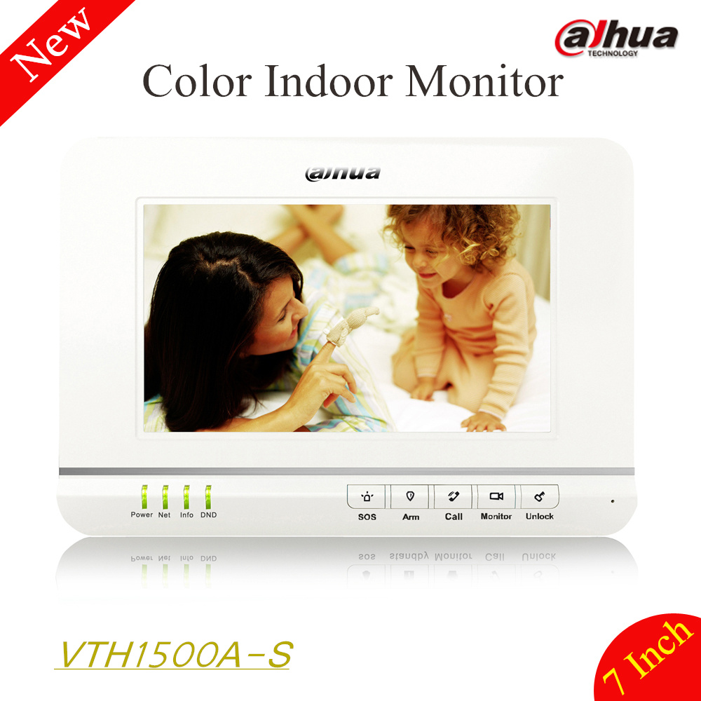 100% Original Dahua 7 inches Color Indoor Monitor Original English Version without Logo VTH1500A-S support hand-free calls signed wolf warriors celina jade autographed original photo 7 inches 7 versions free shipping 082017