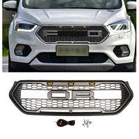 CAR ACCESSORIES LED MODIFIED FRONT RACING GRILLS ABS GRILL MESH RAPTOR GRILLE MASK TRIMS COVER FIT FOR ESCAPE KUGA 2017 2018