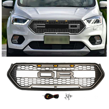CAR ACCESSORIES LED MODIFIED FRONT RACING GRILLS ABS GRILL MESH RAPTOR GRILLE MASK TRIMS COVER FIT FOR ESCAPE KUGA 2017 2018 hr grille front racing raptor grills cover fit for ford everest endeavour 2015 2017