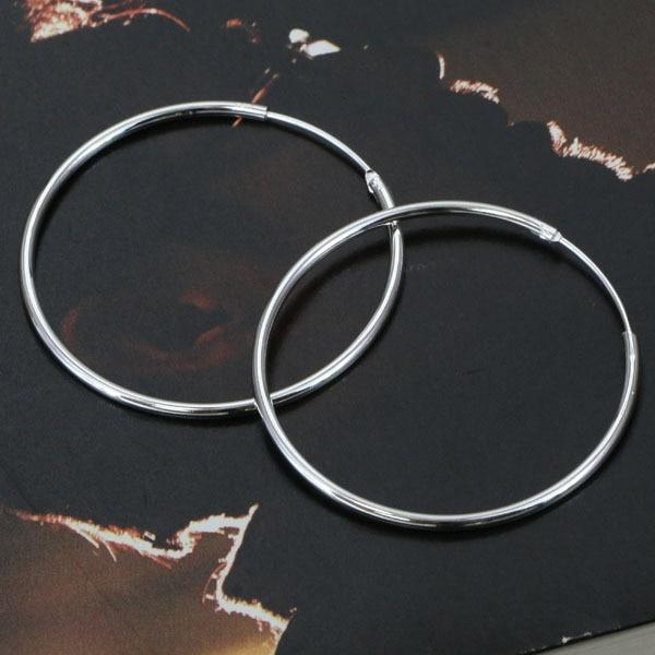 E042 Wholesale Silver plated earrings silver fashion jewelry Smooth Round Earrings atnajkuasc