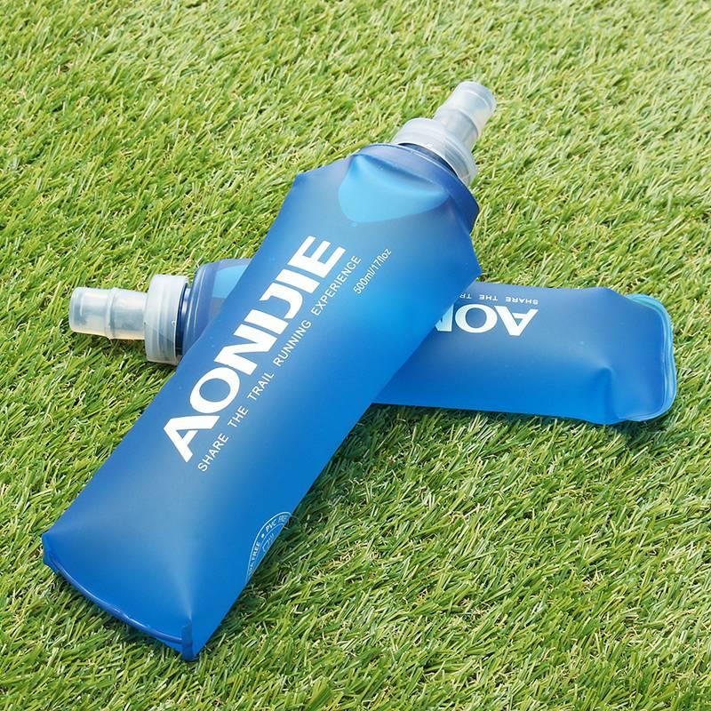 Freien Faltbare Blau Wasserflasche Reisen Sport Laufsport Radfahren Wasserkocher Gesunde Weich Material Wandern Camping Krug 250 ML 500 ML