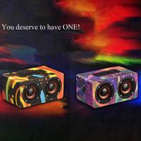 10W 2 color EDAL Fashion FM Radio Wooden Bluetooth 4.2 Speaker AUX Audio Loud Bluetooth Speaker Box Support TF Card Built in FM
