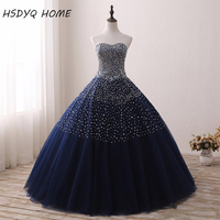 2017 Real Photos Beaded Prom dresses Sweetheart Ball Gowns Prom Party Gowns Lace Up Back Birthday Dresses Vestidos De 15 Anos