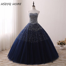 2017 Real Photos Beaded Prom dresses Sweetheart Ball Gowns Prom Party Gowns Lace Up Back Birthday Dresses Vestidos De 15 Anos(China)