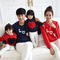 2017 Autumn Winter cotton Hoodies Letters Love t-shirt mother mommy and me daughter father baby clothes matching family look
