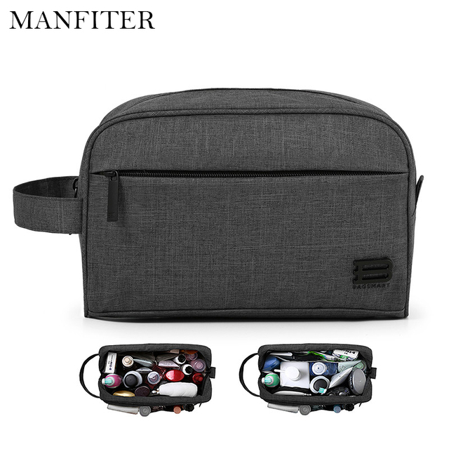 MANFITER Cosmetic Bags Makeup Bag Women Travel Toiletry Bag Large Capacity Storage Brush Make Up Organizer Case Travel Bags