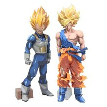 SMSP Super Dragon Ball DragonBall VEGETA SUPER ESTRELAS MESTRE PEDAÇO Mangá Preto Vegeta Ação Pvc Figura Toy(China)