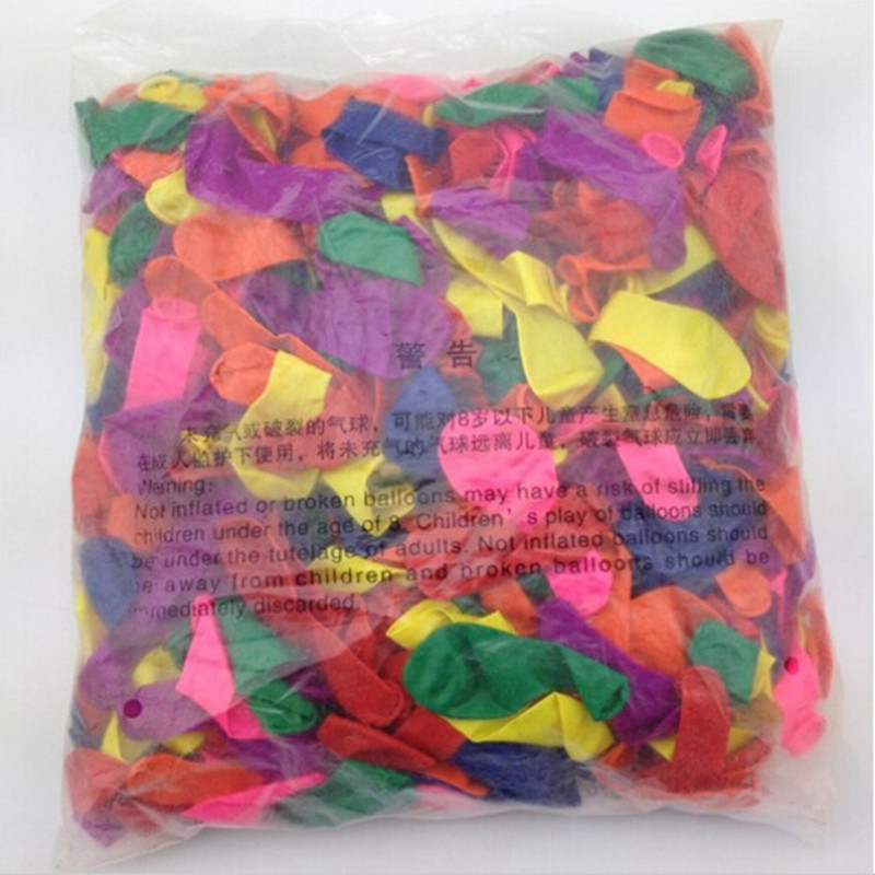 Hot 500pcs lot NO3 mixing small balloons Inflatable water gun can target a small apple ball toy balloons in Ballons Accessories from Home Garden
