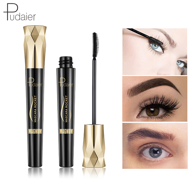 Pudaier Brand 4d volume mascara mascara for eyelashes Black Thick long lash mascara waterproof Makeup cosmetics for Eyes Curling in Mascara from Beauty Health
