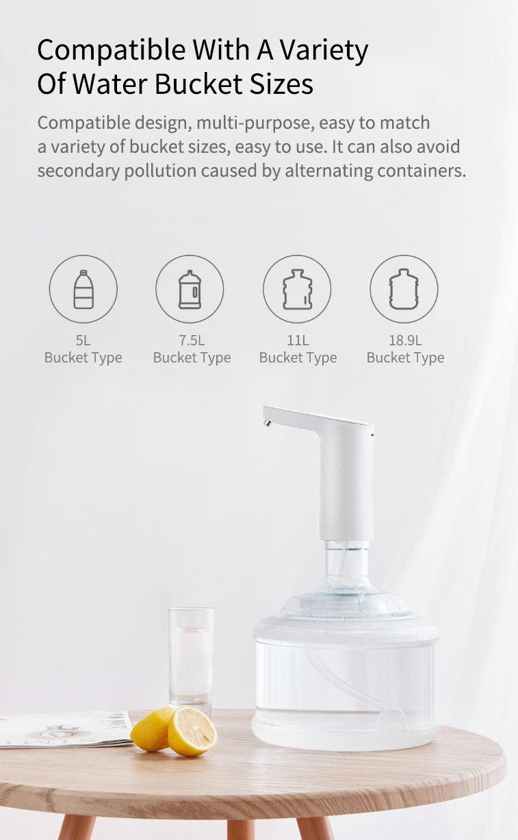 Newest Xiaomi XiaoLang Automatic Mini Touch Switch Water Pump Wireless Rechargeable Electric Dispenser Water Pump WithTDS Test (5)