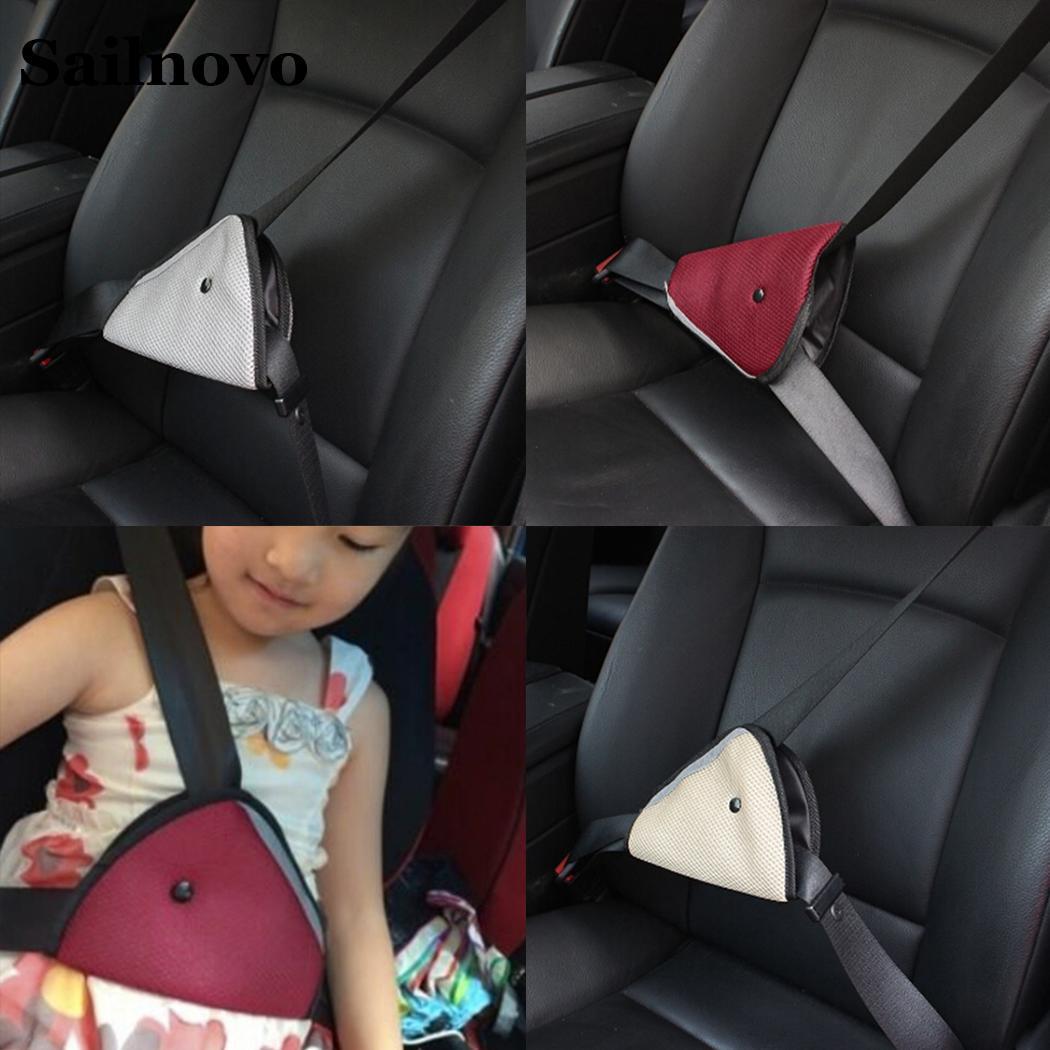 Sailnovo Kids Adjustable Car Triangle Holder Comfortable Child Seat Belt Auto Triangle Holder 22cmx14cm Car Accessories first generation afg grip handle grip triangle holder triangle knob gun accessories