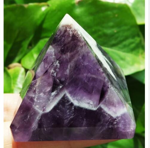 100%natural dream amethyst  quartz crystal pyramid point  healing as gift100%natural dream amethyst  quartz crystal pyramid point  healing as gift