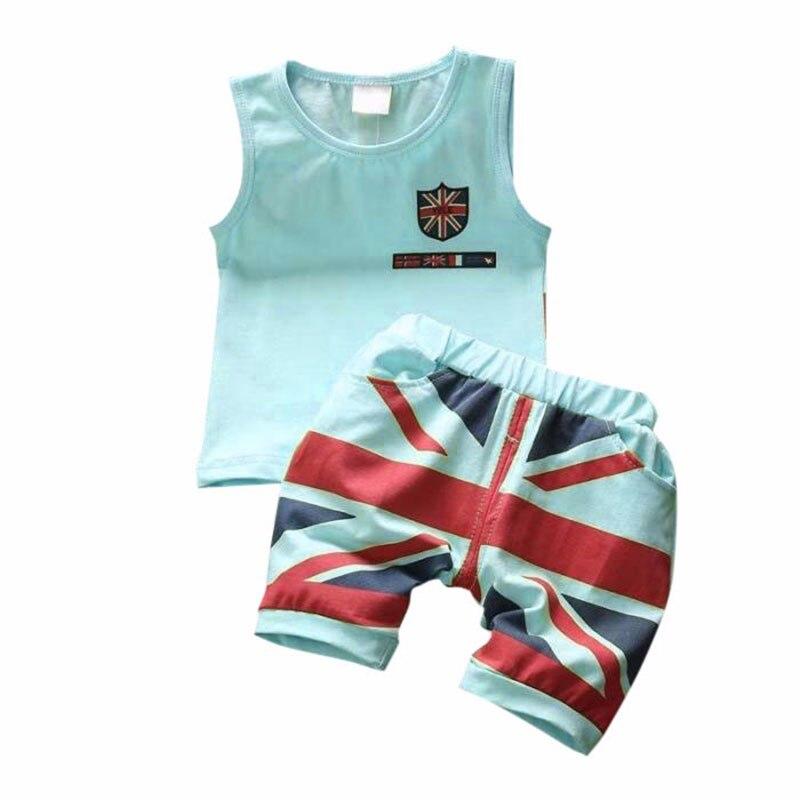 Mode D'été Bébé Garçons Vêtements Ensembles Roupas Infantile 1