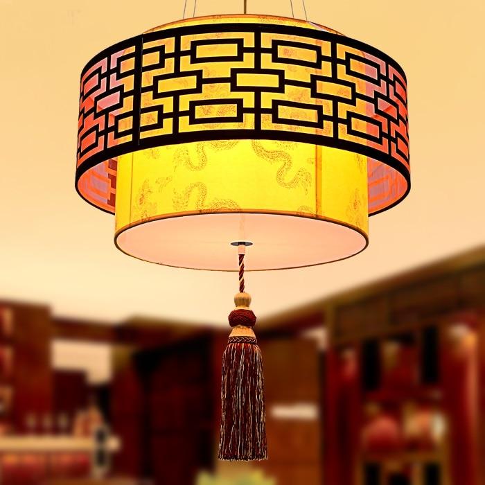 Chinesischen Stil Eisen 40 CM 60 Cm Wohnzimmer Pendelleuchte Antiken Pergament Lampe Schlafzimmer Einfachen Atmosphrische