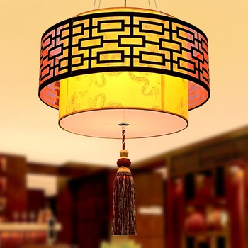 Chinese style pendant lights for living room hotel antique parchment lamp bedroom lamp study pendant lamps ZA  ZS36