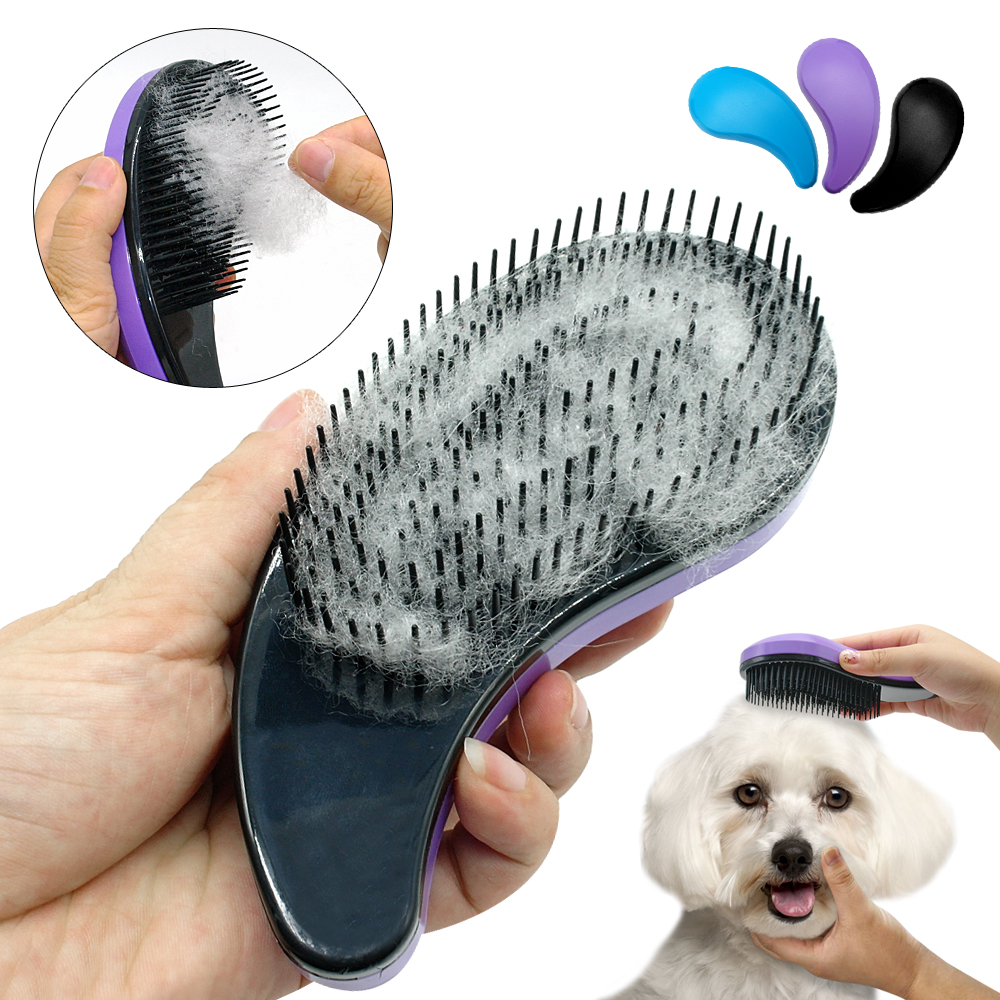 Pet Hair Removal Brush Puppy Cat Dog Pet Comb Deshedding Cleaning Massage Combs Grooming Dog Accessories Pet Supplies