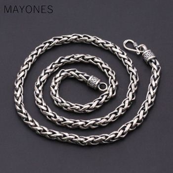 6MM Real Silver Necklace 925 Silver Thailand Silver Necklace Designer Vintage Silver Neckace Man Necklace free shipping