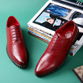 2017 Spring New Arrival Men's Fashion Figh Quality Calf Skin Male Lacing Business Formal Pointed Toe Leather Shoes