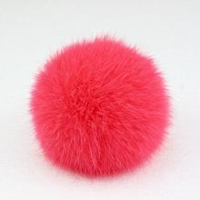 8cm Nature Genuine Rabbit Fur Ball Pom Pom Fluffy DIY Winter Hat Skullies Beanies Knitted Cap