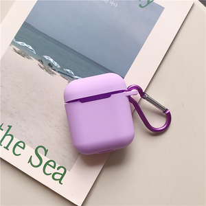 Image 4 - Liquid silicone Case For Airpods Shockproof Earphone Protective Cover Waterproof cute Headset Accessories with keychain