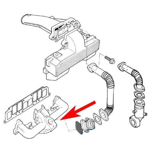 Egr Valve Blanking Plate Steel For Vw Seat Skoda Audi Ford T3 T4 T5
