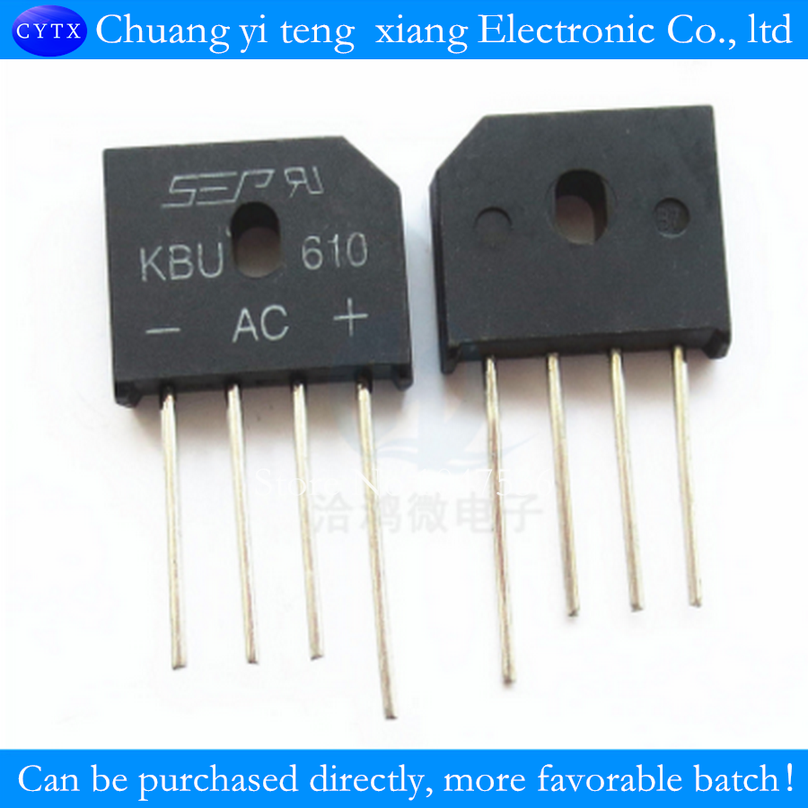 SEP KBU610 rectifier bridge Professional Electronic Component Parts A starting 10pcs/lot