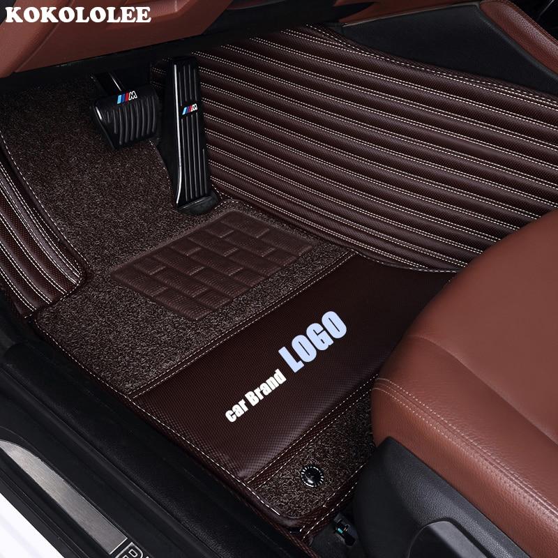 kokololee car floor mats for Volkswagen LOGO vw Beetle Touareg Tiguan Phaeton vw EOS Magotan Scirocco Multivan sharan Variant