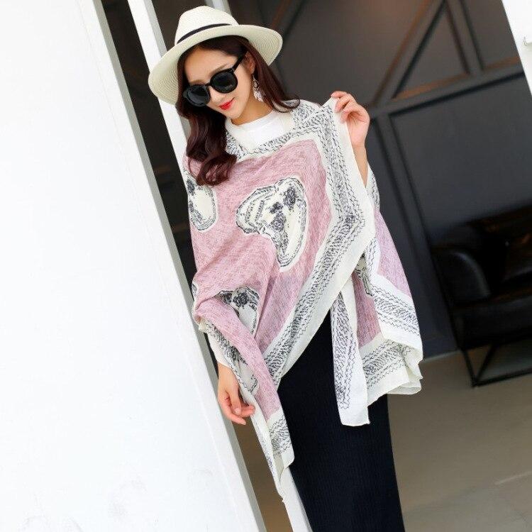 Women Beach <font><b>Towel</b></font> Tunic Twill Cotton Mask Wind Luxury Skull head Shawl Winter Scarf Gifts New Year Stoles Fashion Blanket Wraps