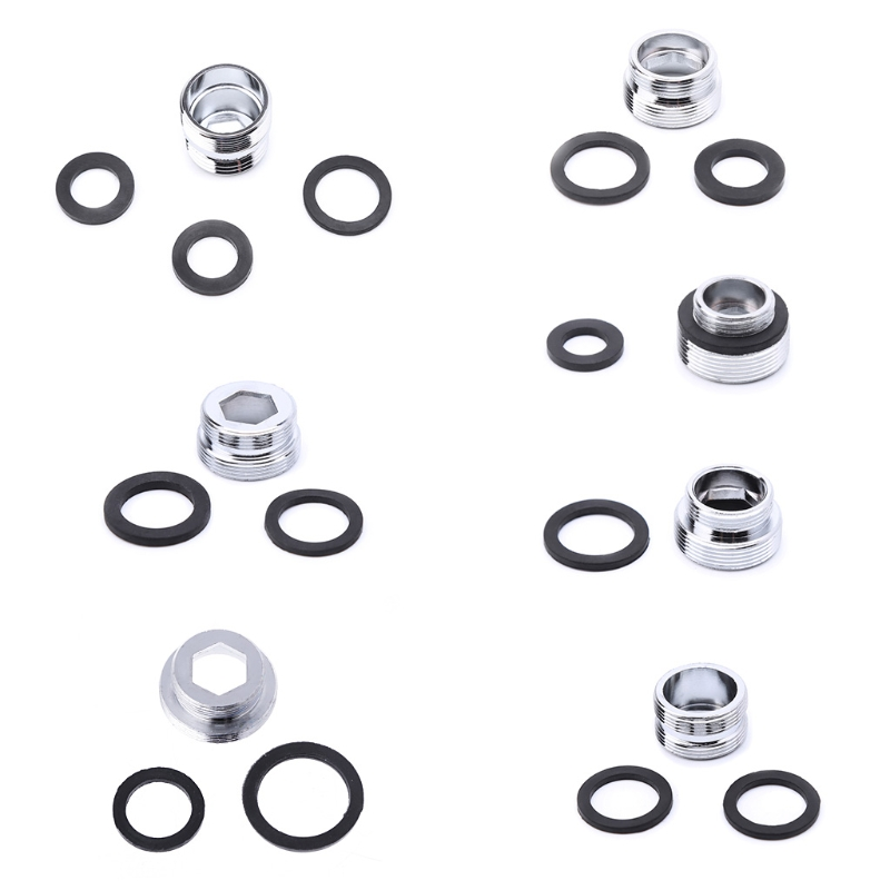 1 Pc Outside Thread Adapter&Gasket Solid Metal Adaptor Outside Thread Water Saving Kitchen Faucet Tap Aerator Connector