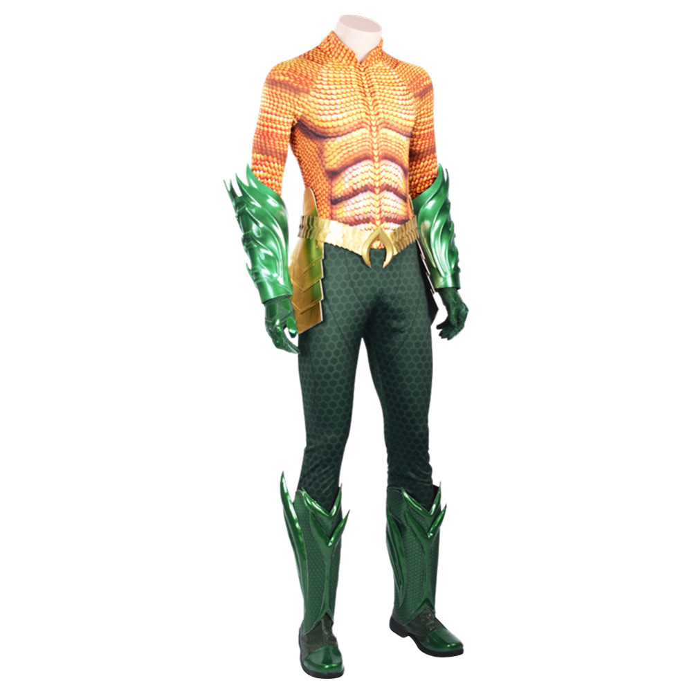 New Halloween Costume Aquaman Arthur Curry Cosplay Costume Boots Shoes