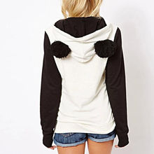 KLV 2017 High Quality Women's Winter  Panda Fleece Pullover
