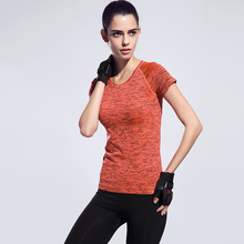 Space Dyeing Plus Size Women Yoga Shirts Gym Fitness High Quality Tights Sports T-Shirt Sexy Running Shapewear Ladies Clothes